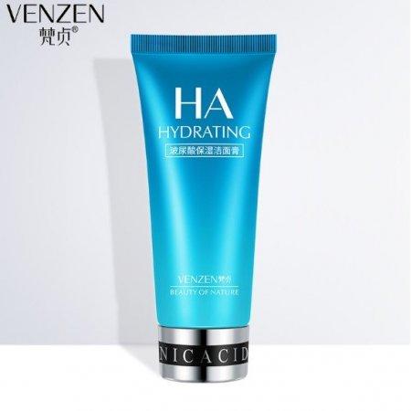 Увлажняющая пенка для умывания VENZEN HA Hidrating Cleancer с гиалуроновой кислотой 100 гр
