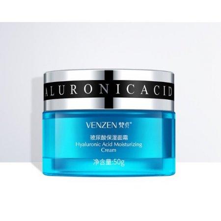 Глубоко увлажняющий крем для лица VENZEN Hyaluronic Acid Moisturizing Cream с гиалуроновой кислотой 50 гр