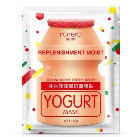 Тканевая маска для лица Rorec Hydra And Replenishment Yogurt Mask с экстрактом молочнокислых бактерий 30 гр
