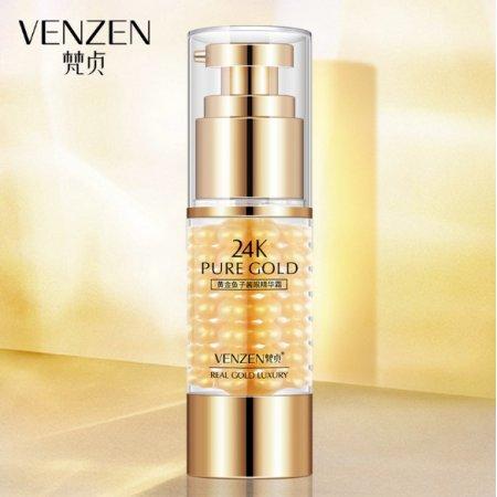 Омолаживающий крем для кожи вокруг глаз VENZEN 24К GOLD CAVIAR EYE CREAM с золотом и экстрактом черной икры 35 гр