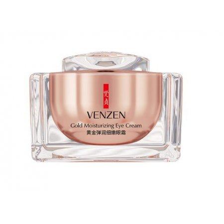 Омолаживающий крем для кожи вокруг глаз VENZEN Gold Moisturizing Eye Cream с золотом и гиалуроновой кислотой 15 гр