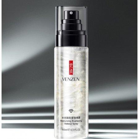 Высоковитаминный спрей-тонер для лица VENZEN Moisturizing Brightening Makeup Spray с растительными экстрактами 100 мл