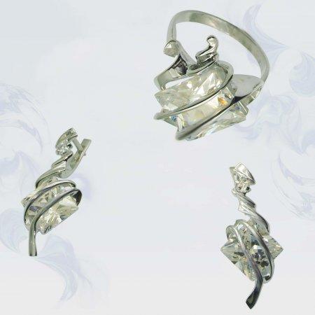 Гарнитур из серебра, модель 024
