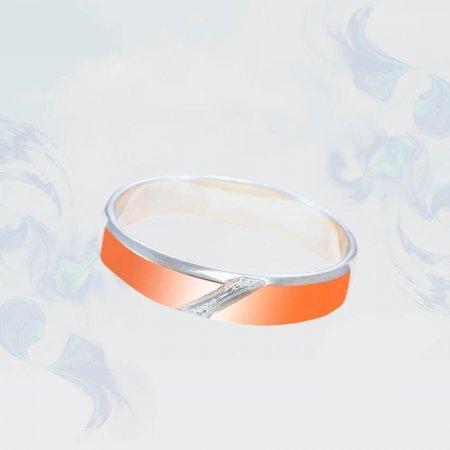 Кольцо из серебра с золотыми вставками, модель 192