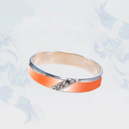 Кольцо из серебра с золотыми вставками, модель 193