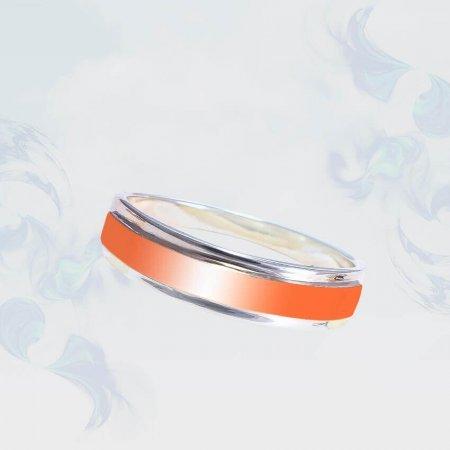 Кольцо из серебра с золотыми вставками, модель 205