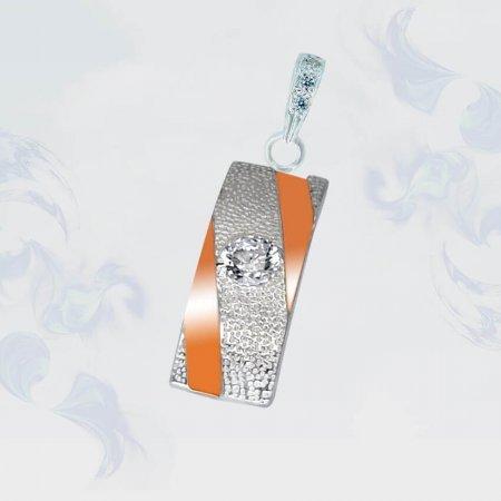 Подвеска из серебра с золотыми вставками, модель 104