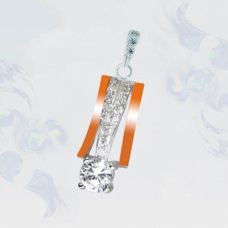 Подвеска из серебра с золотыми вставками, модель 115