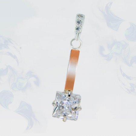 Подвеска из серебра с золотыми вставками, модель 166